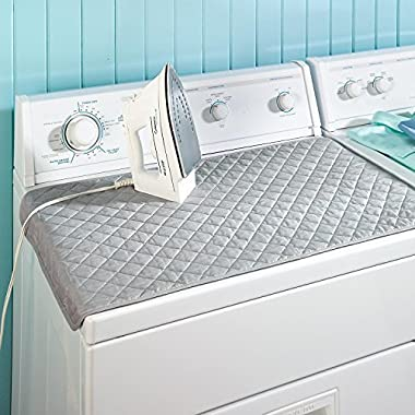 Xhbear Portable Ironing Mat Blanket (Iron Anywhere) Ironing Board Replacement, Iron Board Alternative Cover,Quilted Washer Dryer Heat Resistant Pad, Ironing Board Covers