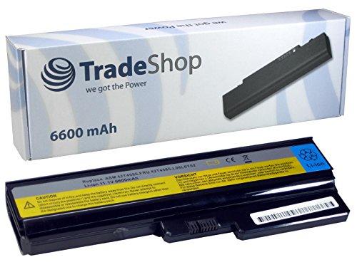 Trade-Shop - Batería de recambio de alto rendimiento para portátiles IBM Lenovo (6600 mAh, compatible con portátiles IBM Lenovo G550, G550-2958LEU, G550-2958LFU, G-430, G-450, G-530, G-550, G-550-2958-LEU, G-550-2958LFU, 20003, V460A, V460A-IFI(A), V460A-IFI(H))