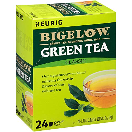 Bigelow Green Tea Keurig K-Cup Pods, Box of 24 Cups (Pack of 4) Caffeinated 96 K-Cup Pods Total