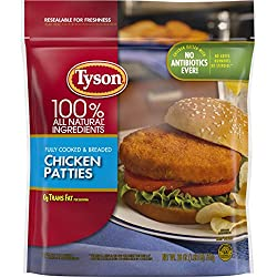 Tyson Fully Cooked Chicken Patties, 26 oz. (Frozen)