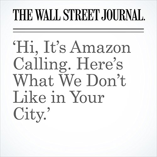 'Hi, It's Amazon Calling. Here's What We Don't Like in Your City.' copertina