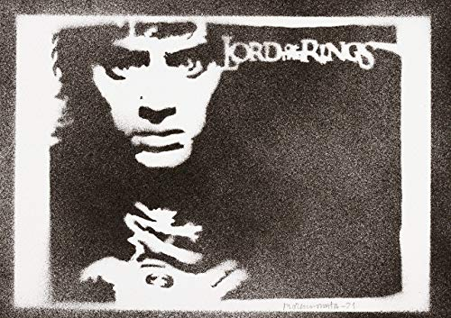 Frodo Beutlin Poster Der Herr der Ringe Plakat Handmade Graffiti The Lord of the Rings Street Art - Artwork