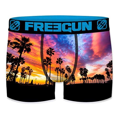 Freegun Herren Boxershorts Summer Collection Gr. S, Beach Palme