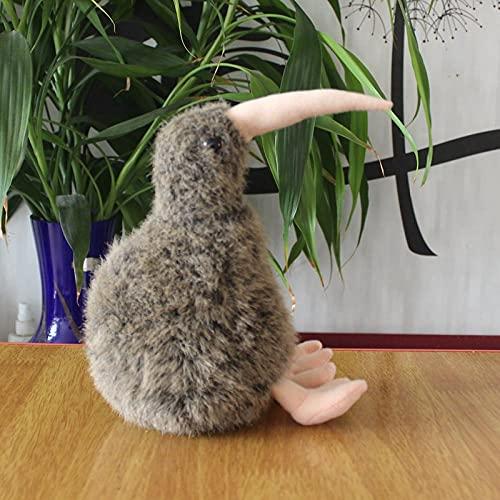 Muñeco de Kiwi, Juguete de Peluche, pájaro de simulación, Nueva Zelanda, Kiwi, Kiwi, sin alas, Kiwi, pájaro, Regalo, marrón, Altura de Sentado 19 cm