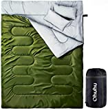 Ohuhu Double Thickened Sleeping Bag with 2 Pillows, Cold Weather...