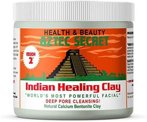 Aztec Secret – Indian Healing Clay 1 lb – Deep Pore Cleansing Facial & Body Mask – The Original 100% Natural Calcium ...
