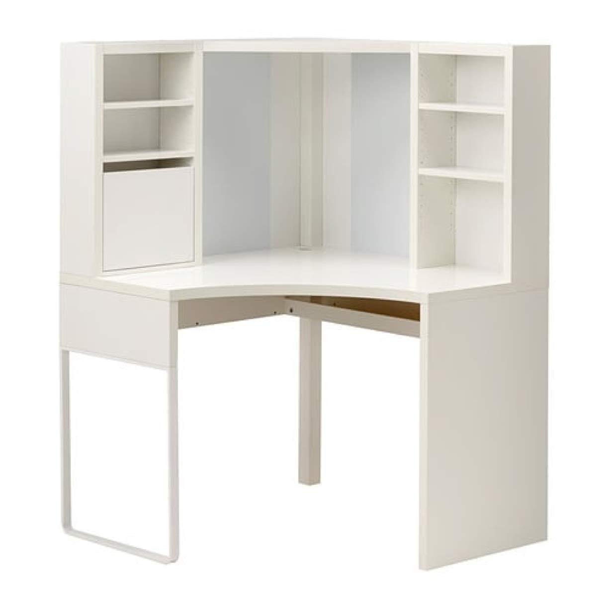 batalla Legítimo anillo  IKEA Micke 502.507.13 - Estación de trabajo de esquina, color blanco, talla  39 3/8 x 55 7/8 pulgadas: Amazon.es: Hogar