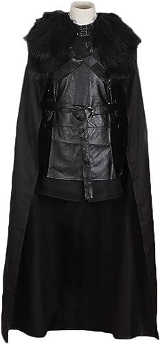 Fernando S.L Herren Jon Snow Kostüm Game of Thrones Cosplay Kostüm Halloween Outfit, Schule Drama Performance Kleidung Jumpsuit, 180-190cm