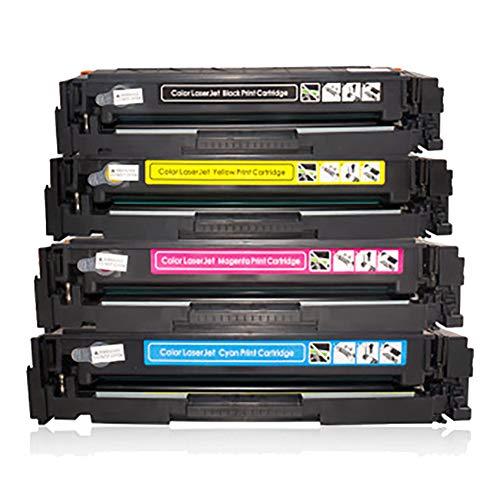 GSCCC Cartucho de tóner m281fdw m254dw cf500a, compatible con impresoras HP 254nw/dn M281fdn/cdw 202A m280nw serie, negro 3500 páginas, 2700 páginas en color