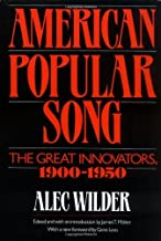 American Popular Song: The Great Innovators, 1900-1950