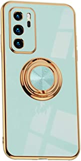 Hicaseer Case for Huawei P40,Ultra-Thin Ring Shockproof Flexible TPU Phone Case with Magnetic Car Mount Resist Durable Cas...