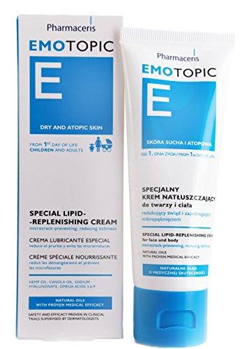 Eczema Dermatitis & Dry Skin Moisturizer, Newborns to Adults, Lipid Replenishing Cream, Face & Body Treatment, Fragrance-Preservative-Paraben Free, by Pharmaceris, 75ml