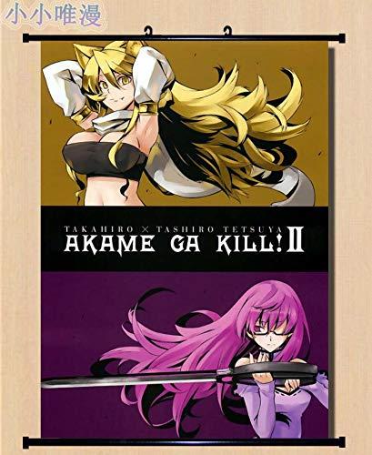 Imágenes Decorativas japonesas Anime Akame Ga Kill! Personaje Sexy Girl Chelsea & Sheele & Mine Decoración para el hogar Póster de Desplazamiento de Pared 40x60cm 13