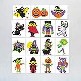 Baker Ross Calcomanías de Halloween (Pack de 24) para Bolsas Sorpresa Infantiles de Halloween