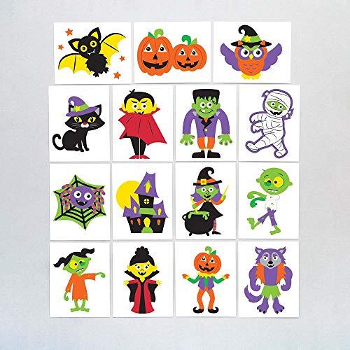 Baker Ross Calcomanías de Halloween (Pack de 24) para Bolsas Sorpresa Infantiles...