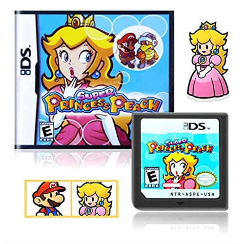 Super Princess Peach Game Cartridges Game Card for NDS 3DS DSI DS(Reproduction Version) Clear Picture, Smooth Running