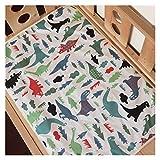 Plegable Dibujos animados bebé pañales cambio estera suave algodón Cambiador de pañales grande recién nacido impermeable colchoneta colchoneta Esenciales de viaje ( Color : Dinosaur 90x60cm 921 )