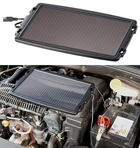 REVOLT Solarladegerät: Solar-Ladegerät für Auto-Batterien, 12 Volt, 2,4 Watt (Solar Ladegeräte für Autobatterien)