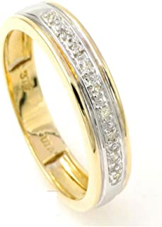 5mm 9ct Beautiful Handcrafted Solid Yellow Gold Classic Ring Eternity Wedding Ring Gift for Her
