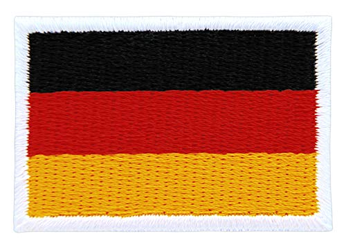 Patch Deutschland Flagge Klein Germany Aufnäher Bügelbild Größe 4,5 x 3,0 cm