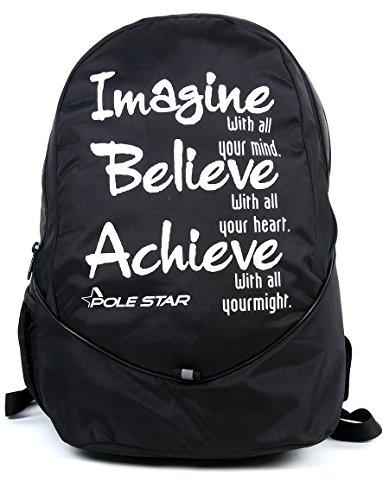 POLESTAR Original Buddy IBA Unisex Polyester Casual School Backpack (Black)