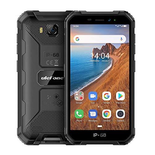 Outdoor Smartphone ohne Vertrag, Günstig Handy 5,0 Zoll, 2GB+16GB, Dual SIM Android 9.0 Phone, Face ID/WLAN/GPS, Ulefone Armor X6, Schwarz