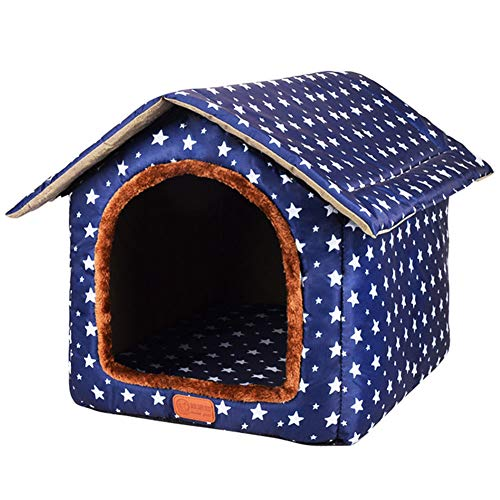 Runing Pet Dog House Room Cat Tent Bed, Kitty House Self Warming Dog Cat Bed Pet Crates for Dogs Portable Folding Kennel for Pets Indoor Outdoor