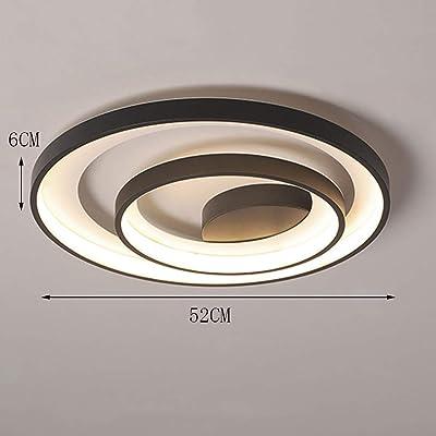 7cm,Steplessdimming FYBAO 55W Anneau plafonnier LED Acrylique Abat-Jour Plafond en Aluminium Lampe Plafond d/écoratif Salon Chambre Chambre Enfants /φ48