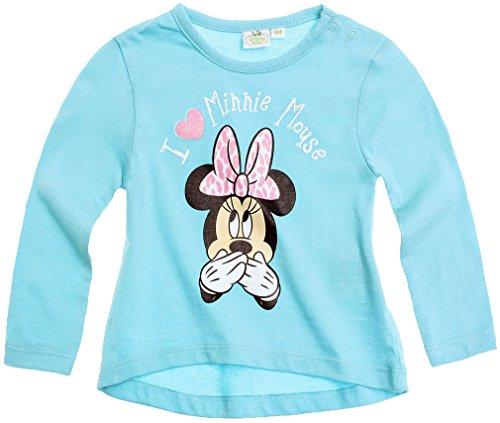 Tee shirt asymétrique manches longues bébé fille Minnie Bleu de 3 à 24mois (12mois)