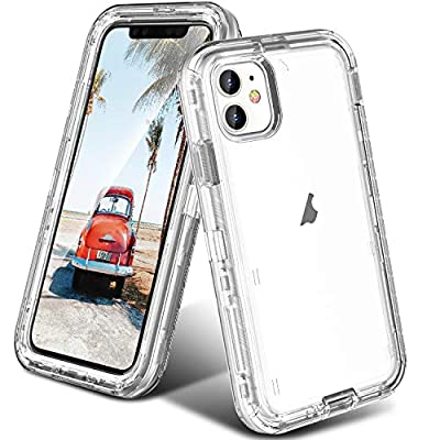 ORIbox Protective Case for iPhone 11, Heavy Duty Shockproof Anti-Fall case, More Suitable for People with Big Hands, Crystal Clear