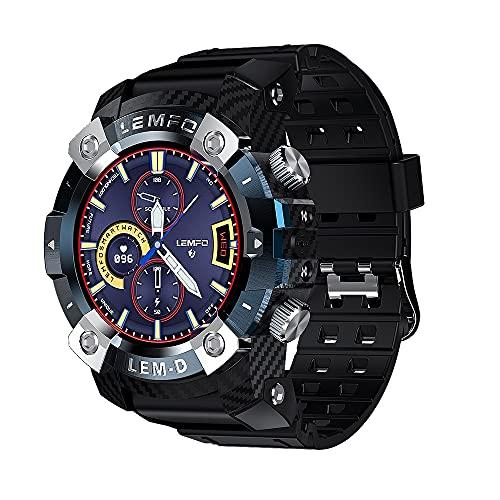 Sport Smart Watch TWS Auricular Bluetooth - Reloj Bluetooth Pulsera Inteligente - Pulseras Táctiles con Pantalla HD 360 * 360 - Batería de 350Mah Reloj Inteligente en Varios Idiomas para Hombres