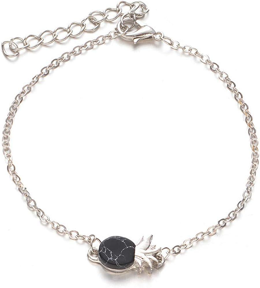 Fxbar Women Cute Bracelets Fashion Lovely Pineapple Chain Bracelets Adjustable Personalized Friend Bangle for Girl Brithday Gift