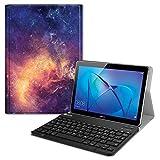 Fintie Bluetooth Tastatur Hülle für Huawei Mediapad T3 10 - Superdünn leicht Ständer Schutzhülle mit magnetisch Abnehmbarer Drahtloser Deutscher Tastatur für 9,6