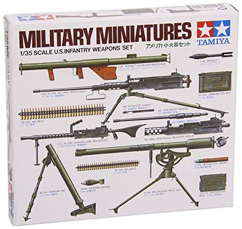 タミヤ 1/35 ミリタリーミニチュアシリーズ No.121 アメリカ陸軍 小火器セット プラモデル 35121