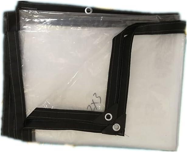 Bache Imperméable à l'eau, épaisse Feuille De Plastique Film De Bordure en Plastique Transparent Et Tissu D'isolation étanche à La Pluie