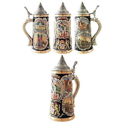 Official Jarra de Cerveza Decorativa Alemana Ceramica Bayern Neuschwanstein 700 ML