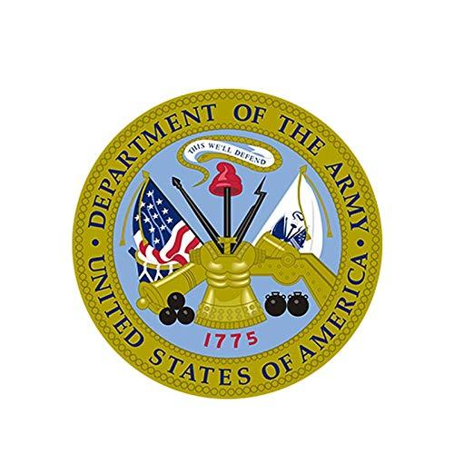 Pegatinas para coche con sello del ejército de los Estados Unidos soldado militar veteranos gráficos, pegatinas de ventana para parachoques de bicicleta (color: 1)
