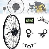 CHEIRS 48V 500W 20'/ 24' / 26'/ 28' / 29'/ 700C Kit de Motor de conversión de Bicicleta eléctrica de Rueda Delantera/Rueda Trasera - Kit de Motor de Cubo de Bicicleta eléctrica,FrontWheel-700cINCH