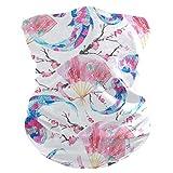 DOSHINE - Bandana para la cara, diseño japonés de flores de carpa Koi, pasamontañas multifuncional, diadema mágica, bufanda, cuello, calentadores para ciclismo, polvo, deportes al aire libre