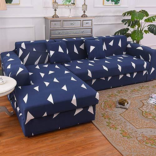 WXQY Funda de sofá de Esquina para Sala de Estar Funda de sofá elástica Toalla de sofá elástica Funda de sillón Chaise Longue en Forma de L A9 1 Plaza
