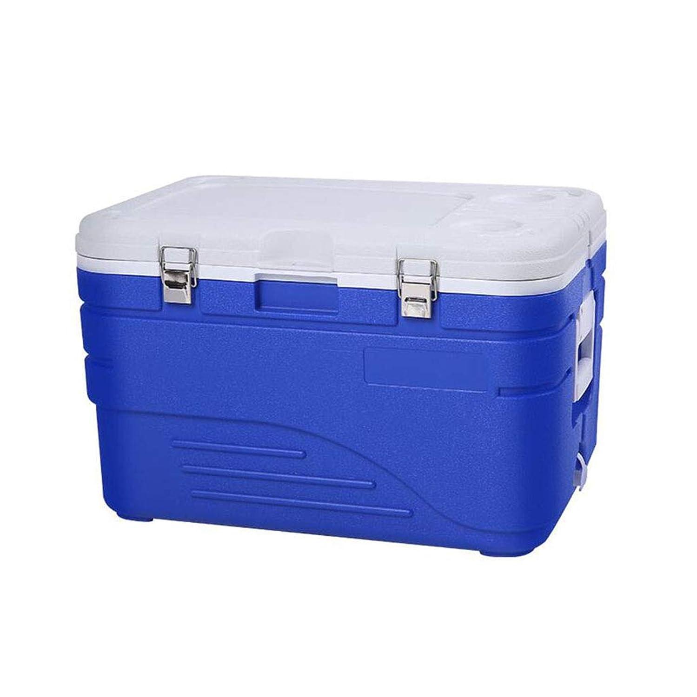 ポータブル45Lクーラーおよびウォーマー、30缶容量、キャンプ用、釣り用、およびその他のアクティビティ用ヘビーデューティアイスチェスト(内蔵2カップホルダー含む)