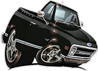 DB 72 Chevy Stepside 2 Wall Decal 2ft Long Chevrolet Vintage Old Classic Vinyl Sticker Man Cave Garage Boys Room Decor