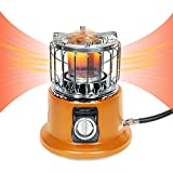 Campy Gear 2 in 1 Portable Propane Heater & Stove, Outdoor Camping Gas Stove Camp Tent Heater for Ice Fishing Hiking Hunting Survival Emergency & Patio (Orange, CG-3000B)