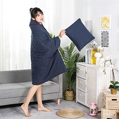 Reisedecke und Kissen Einfache Baumwolle gewaschener Baumwolle Plaid Kissen Quilt Dual-Use-Baumwolle Multifunktionale Tragbarer Kissen Quilt Premisoft 2 in 1 Flugzeugdecke