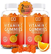 Vitamin C Gummies with Zinc for Immune Support Booster Supplement for Adults Kids, Immunity Support System - Gluten Free, Organic, Vegan, Citrus Orange Pectin Gummy - Promotes Health Wellness (2 Pack)