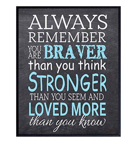 A A Milne, Quote Wall Art Print Typography - Motivational, Inspirational Winnie the Pooh Home Decor Saying for Girls, Boys, Kids Room, Nursery - Chic Home Decor Gift for Women - 8x10 Unframed Photo