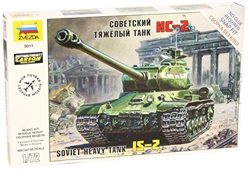 "ZVEZDA 5011 - Soviet Heavy Tank IS-2 - Unpainted Plastic Kit - Scale 1:35 94 Parts 5.4"" / 13.8 cm"