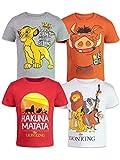 Disney Lion King Toddler Boys 4 Pack T-Shirts Simba Timon Pumbaa Zazu Nala 4T