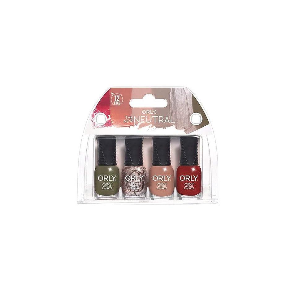 拮抗するフォージ信号ORLY Lacquer - The New Neutral Collection - 4 Pack Mini - 5.3 ml / .18 oz Each