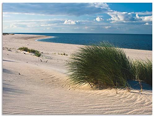 Artland Wandbild Alu für Innen & Outdoor Metall Bild 40x30 cm Strand Meer Düne Küste Gräser Nordsee Maritim T5TV